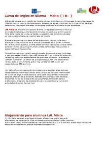 Curso de Ingles en Sliema Malta ( 18+ )