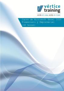 Curso de Microsoft Excel 2010 Financiero y Empresarial (60 horas)