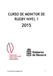 CURSO DE MONITOR DE RUGBY NIVEL 1