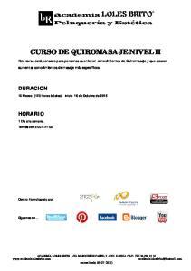 CURSO DE QUIROMASAJE NIVEL II
