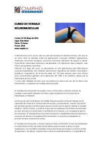 CURSO DE VENDAJE NEUROMUSCULAR