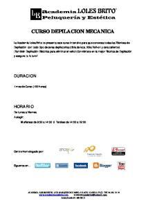 CURSO DEPILACION MECANICA