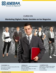 CURSO EN Marketing Digital y Redes Sociales en los Negocios