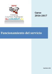Curso Funcionamiento del servicio