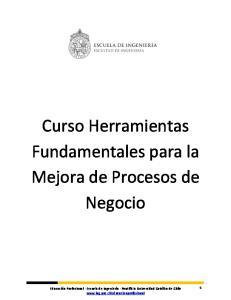 Curso Herramientas Fundamentales para la Mejora de Procesos de Negocio