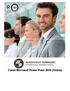 Curso Microsoft Power Point 2010 (Online)
