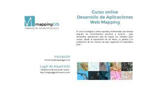 Curso online Desarrollo de Aplicaciones Web Mapping