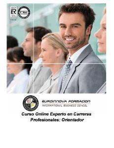 Curso Online Experto en Carreras Profesionales: Orientador