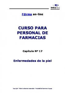 CURSO PARA PERSONAL DE FARMACIAS