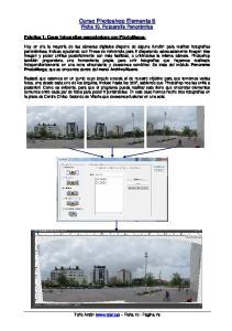 Curso Photoshop Elements 8 Ficha 10. Fotografía Panorámica