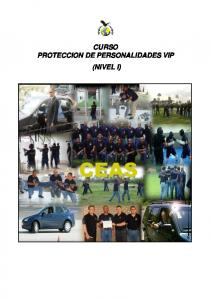 CURSO PROTECCION DE PERSONALIDADES VIP (NIVEL I)