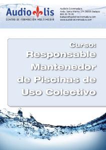 Curso: Responsable Mantenedor de Piscinas de Uso Colectivo