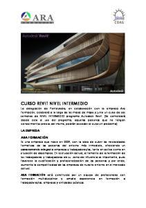 CURSO REVIT NIVEL INTERMEDIO