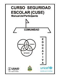 CURSO SEGURIDAD ESCOLAR (CUSE)