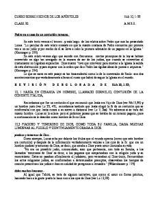 CURSO SOBRE HECHOS DE LOS APÓSTOLES Hch 10, 1-33