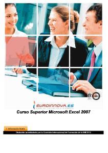 Curso Superior Microsoft Excel 2007