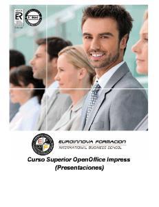Curso Superior OpenOffice Impress (Presentaciones)
