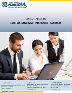CURSO-TALLER DE Excel Ejecutivo Nivel Intermedio - Avanzado