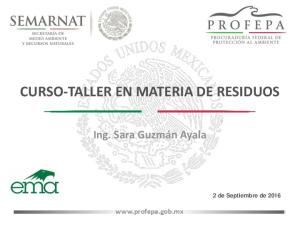 CURSO-TALLER EN MATERIA DE RESIDUOS