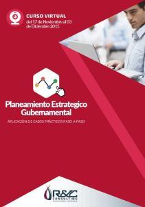 CURSO VIRTUAL del 17 de Noviembre al 03 de Diciembre 2015 Planeamiento Estrategico Gubernamental