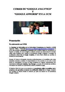 CURSOS DE GOOGLE ANALYTICS Y GOOGLE ADWORDS EN LA UCM