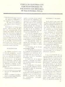 CURVA DE GLICEMIACON CORTICOSTEROIDESEN PACIENTES CON HISTORIA DE MACROSOMIAFETAL