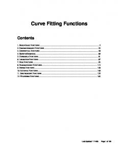Curve Fitting Functions