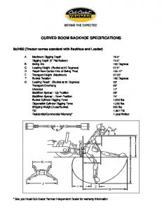 CURVED BOOM BACKHOE SPECIFICATIONS