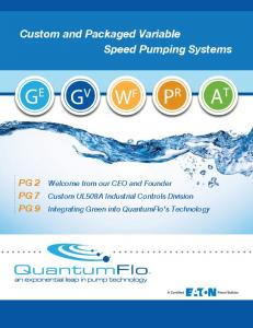 Custom and Packaged Variable Speed Pumping Systems