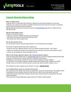 Custom Domain Name Setup