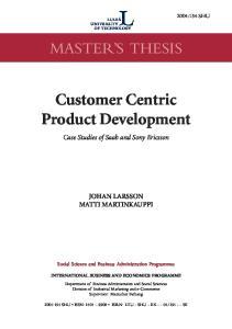Customer Centric Product Development