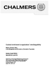 Customer involvement in organizations interchangeability
