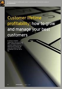 Customer lifetime profitability: how to grow and manage your best customers