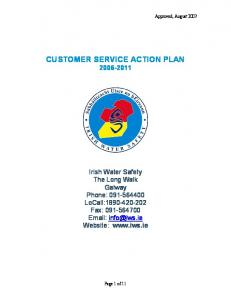 CUSTOMER SERVICE ACTION PLAN