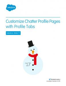 Customize Chatter Profile Pages with Profile Tabs
