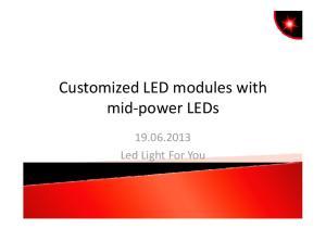 CustomizedLED modules with Led LightFor You
