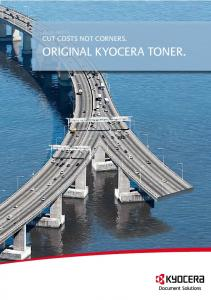 CUT COSTS NOT CORNERS. ORIGINAL KYOCERA TONER