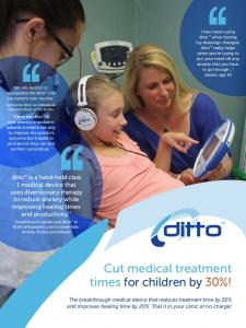 Cut medical treatment times for children by 30%!