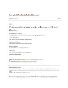 Cutaneous Manifestations in Inflammatory Bowel Diseases