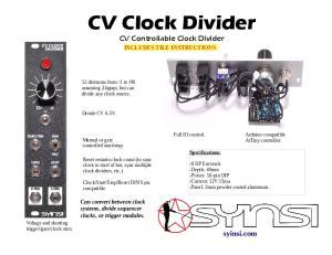 CV Clock Divider CV Controllable Clock Divider