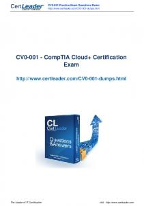CV CompTIA Cloud+ Certification Exam