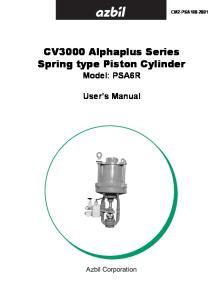 CV3000 Alphaplus Series Spring type Piston Cylinder