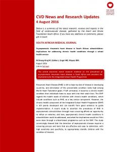 CVD News and Research Updates 4 August 2016