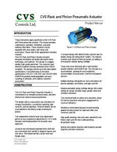 CVS Rack and Pinion Pneumatic Actuator
