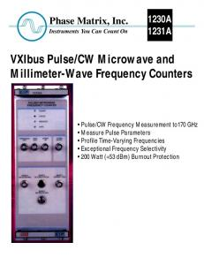 CW Microwave and Millimeter-Wave Frequency Counters