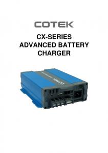CX-SERIES ADVANCED BATTERY CHARGER