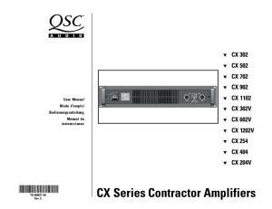 CX Series Contractor Amplifiers
