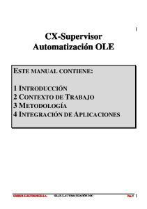 CX-Supervisor Automatización OLE