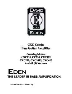 CXC Combo Bass Guitar Amplifier