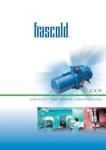 CXH COMPACT TWIN SCREW COMPRESSORS